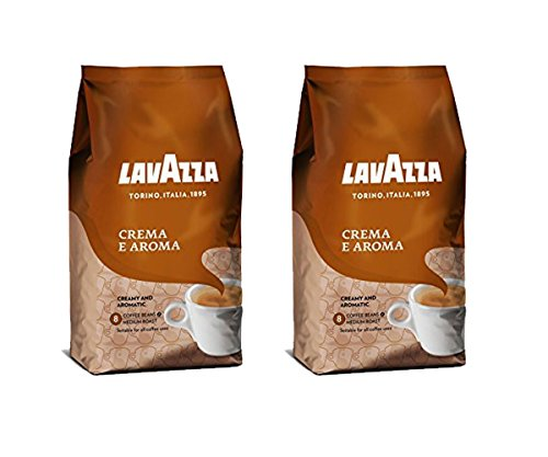 Lavazza Crema e Aroma - Coffee Beans, 2.2-Pound Bag - Pack of 2