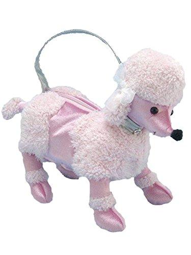 - 50's Costume Accessory Plush Pink Poodle Purse Handbag 13