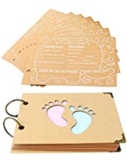 40 Sheets Baby Shower Advice Cards Baby Prediction Cards for Baby shower Reveal Games, Baby Shower Guest Book Boy or Girl Advice and Wishes Cards