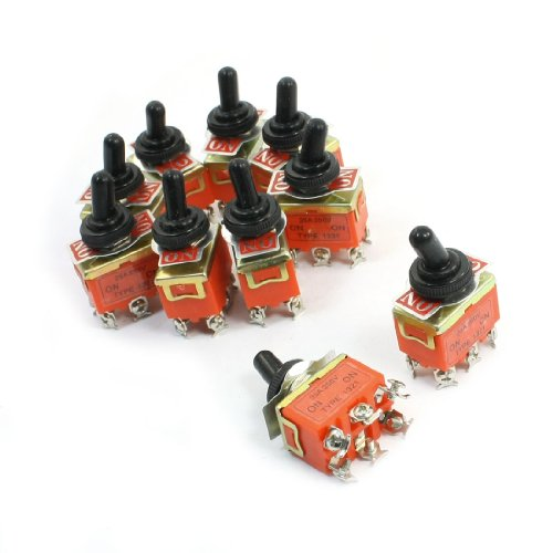 UXcell Toggle Switch with Cover (10 Piece)