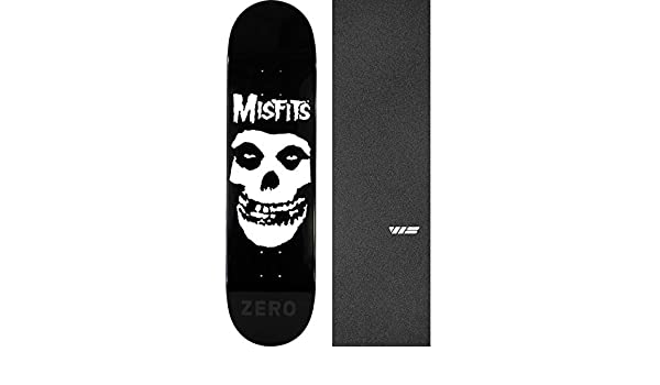 Amazon.com   Zero Skateboards Misfits Fiend Skull Skateboard Deck - 8