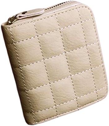 Black Temptation Mini-Portemonnaie Kurzgeldbörse mit Reißverschluss-Beutel-Karten-Kasten-Beige