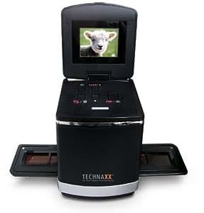 Technaxx DS-01 - Escáner de negativos y diapositivas (5 Mp, USB 2.0), negro
