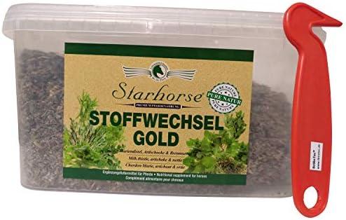 BriReTEC® Starhorse - 1 kg de metabolismo de Hierbas Doradas para Caballos, riñones de hígado, desintoxicación