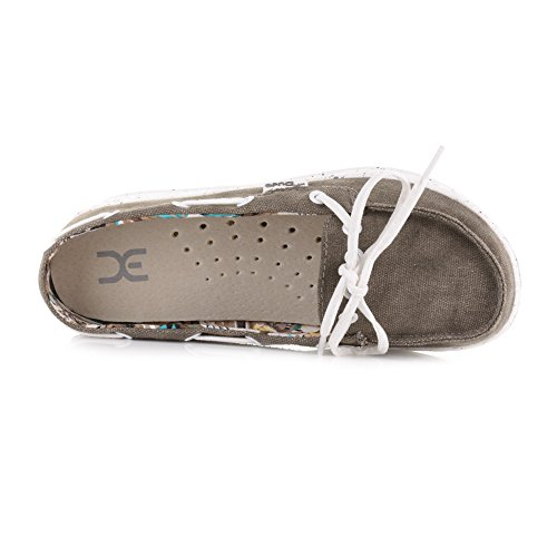 Dude Shoes Dude Moka Tan Classic Deck Canvas Schuhe Hautfarben