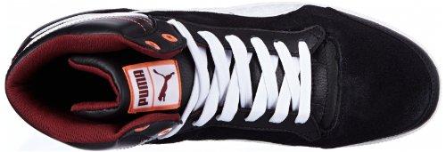 Puma - Zapatillas para mujer Schwarz (black-white-tawny port 01) (Schwarz (black-white-tawny port 01))