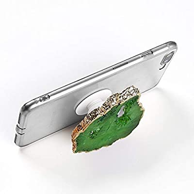 Gorgeous Green Agate Crystal Druzy Quartz Phone Grip Phone Holder for Smart Phones and Tablets
