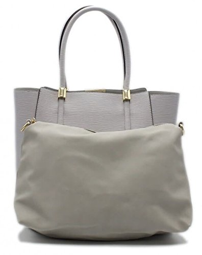 SAC CABAS NOIR 2 EN 1 CUIR SYNTHETIQUE - TOM & EVA - Gris