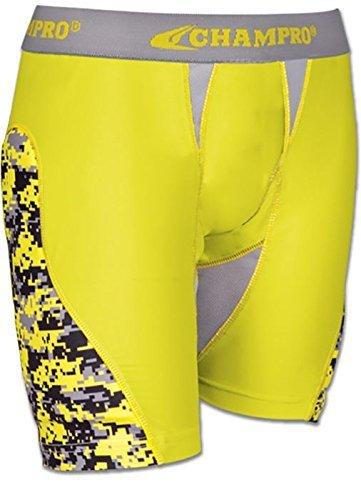 CHAMPRO Womens Line Drive Sliding Short Yellow M (Shorts Sliding Softball)