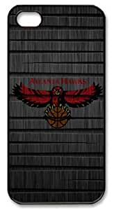 LZHCASE Personalized Protective Case For Ipod Touch 4 Cover NBA Sports Atlanta Hawks Logo in Wood Background