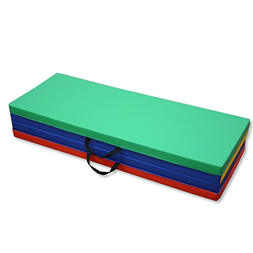 HITSAN 94x47x1.9inch Four Folding Gymnastic Mat Fitness Exercise Floor Pad Sports Protection One Piece by HITSAN (Image #6)