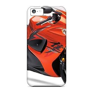 New Arrival PUE1230xpbO Premium Iphone 5c Cases(suzuki Hayabusa Orange Bike)