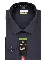 Van Heusen - Camisa de Vestir Grande y Alto para Hombre, Gran Ajuste, Cuello sólido