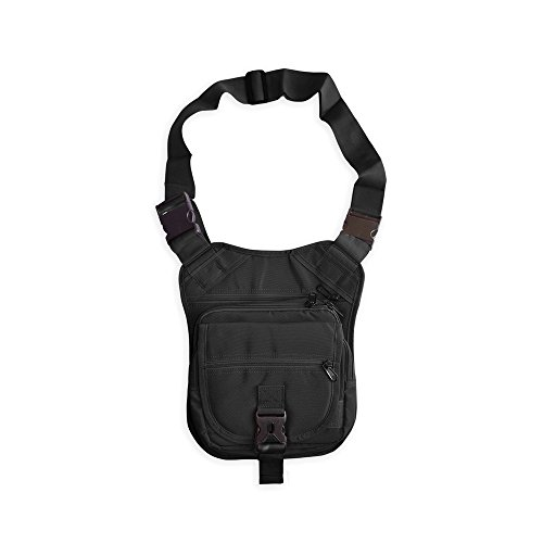The Ranger Bag Concealed-Carry Shoulder Bag (Black, Left-Handed) by Ranger Supply Room