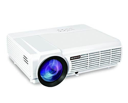"Projector PRAVETTE Outdoor Projector Support Full HD Video/1080P Movie, Home Audio/LCD,LED TV/Digital Video Recorder,Phone/PC/Camera 240"" Screen 50,000-hour Life, Model 1"