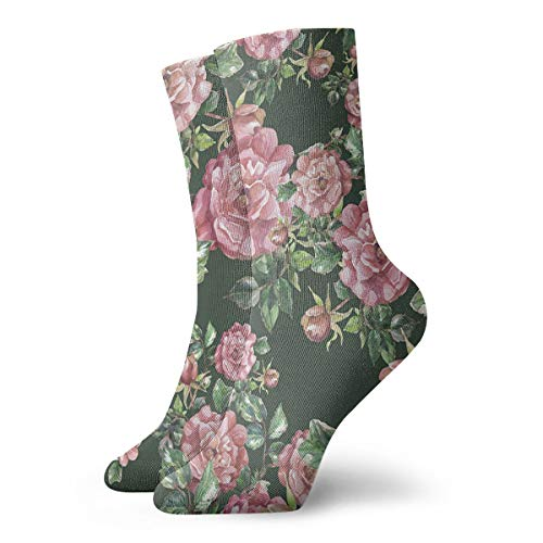 (Hand-painted Peony Pattern Ankle Socks Casual Funny For Sports Boot Hiking Running Etc.)