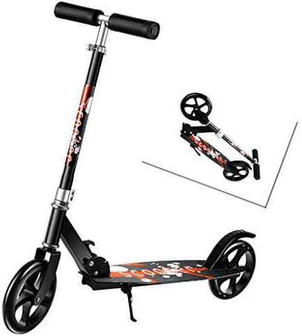 折りたたみ式 キックスクーター 二輪車 3段階高さ調節可 スタンド付 トブレーキ付 機能充実 持ち運び便利 子供~大人用 プレミアムスクーター 安定 立ち乗り 耐荷重100kg