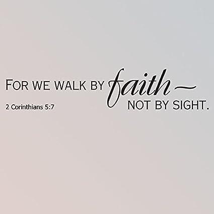 walk by faith bible verse