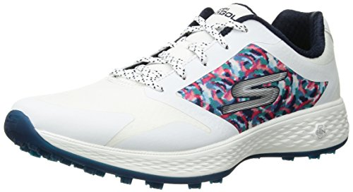 Skechers Performance Women's Go Eagle Major Golf-Shoes,White/Navy,10 M US