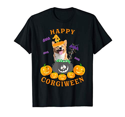 Creative Halloween Shirts (Happy Corgiween Funny Halloween Cute Loves Corgi Dog Lover )