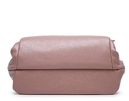 Bolso Portátil Doble Minimalista Bandolera Eeayyygch Púrpura Rojo De Tamaño Uso color Púrpura Elegante RBxUdFdw
