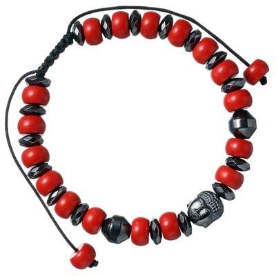 FOKLC Bracelet Cinnabar Stone Beads Bracelets for Women Men Bracelet Black Braiding Men Macrame Bracelets