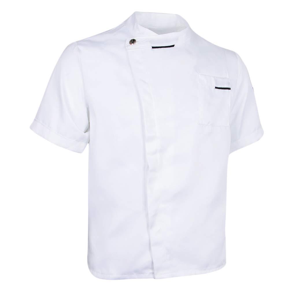 F Fityle Chaqueta Unisex Solid Coat Hotel Waiter Uniforme Cocinero ...