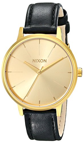 Nixon Womens Kensington Leather Strap Dress Watch