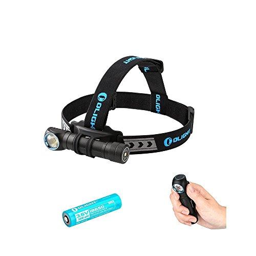 Olight® H2R Nova Linterna Frontal Recargable versátil 2300 Lumens con CREE XHP50 LED. 1 ×18650 batería incluida(Blanco…