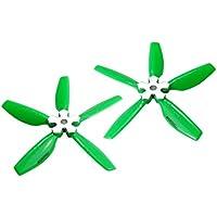 Microheli Plastic Folding 5-Blade Propeller 4045 CW/CCW w/Aluminum Bracket (GREEN)