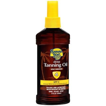 Banana Boat Deep Tanning Oil Spray SPF 4, 8 oz ( 2 pack)