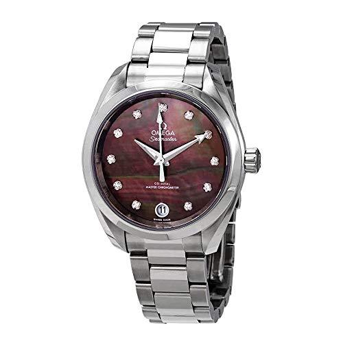 Omega Seamaster Aqua Terra Chronometer - Omega Seamaster Aqua Terra Automatic Chronometer Diamond Ladies Watch 220.10.34.20.57.001
