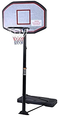 "Movement God Pro Court Height-Adjustable Portable Basketball System with 43"" Backboard"