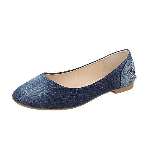 piatto Blu Scarpe low Sneaker Od 34 da Ital Sneakers donna Design qRRZ8t