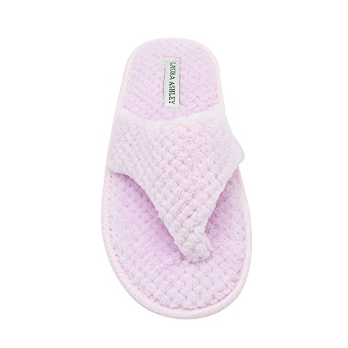 Insole Thong Ladies Foam Spa Memory Slippers Drop with Laura Ashley Gum 8A5EP8qw