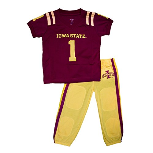 Uniform Small Set University - FAST ASLEEP Iowa State Cyclones Uniform Pajama Set New (7T)