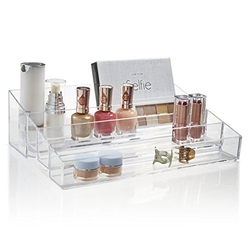 (STORi Premium Quality Clear Plastic Vanity Organizer | Audrey Collection)
