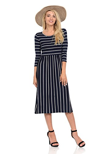 navy and blue striped dress - 5