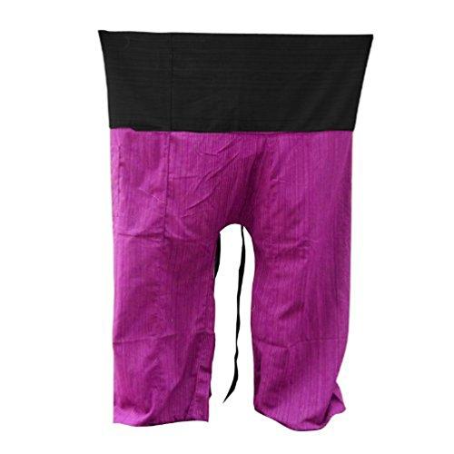 - Thai Fisherman Pants Yoga Trousers FREE SIZE Plus Size Cotton
