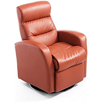 Qaba Kids PU Leather Swivel Recliner Chair   Brown
