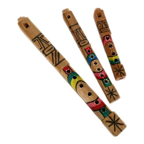 Tarka Wooden Native Hand Carved Wood Flute, Set of 3 Sizes Sanyork Fair Trade 01-66292820