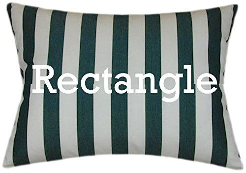 TPO Design Sunbrella Mason Forest Indoor/Outdoor Striped Patio Pillow 12x18 (Rectangle) - Pillow Mason Collection