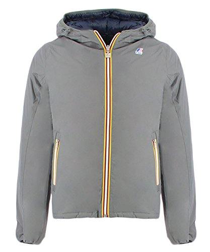 Down doubleGRIGIO Jacques XXX Double Man Thermo Face K KWAY Way Plus Jacket Grey 561WHIYwqI