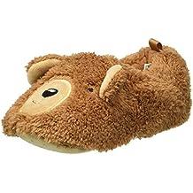 carter's Boys' Brody2-S Bear Slipper, Tan, 5/6 M US Toddler