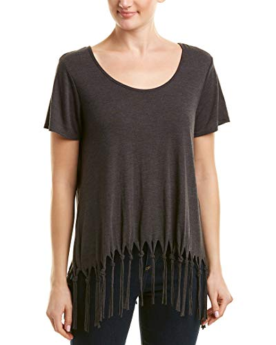 Michael Stars Womens Scoop Neck Top, Os, Red ()