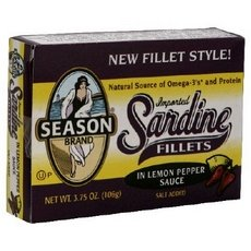 Sardine Fillet Lemon Pepper, 3.75-12 Per Case. by Season 1
