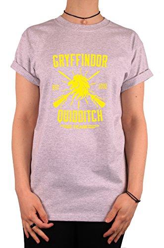 """TheProudLondon Gryffindor Quidditch Team"""" Unisex T-shirt (Small, Heather Grey)"""