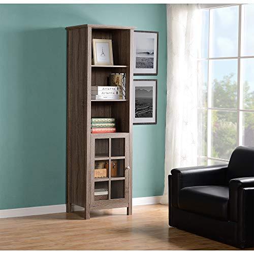 HOMESTAR Provence Bookcase/Media Storage Pier, 15.35x21.65x70.87, Reclaimed - Media Storage Pier