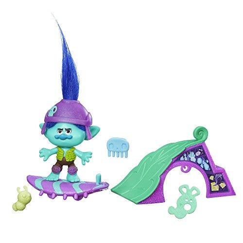 Dreamworks – Les Trolls – Branche le Roi de la Glisse – Mini Figurine 5 cm + Accessoires