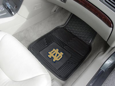- Officially Licensed NCAA Universal Fit Molded Front Rubber Floor Mats - Notre Dame Fighting Irish